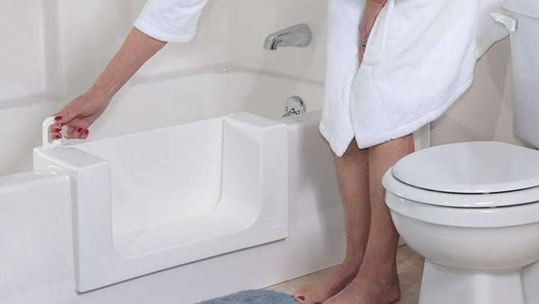 barrier free bathtub door toronto